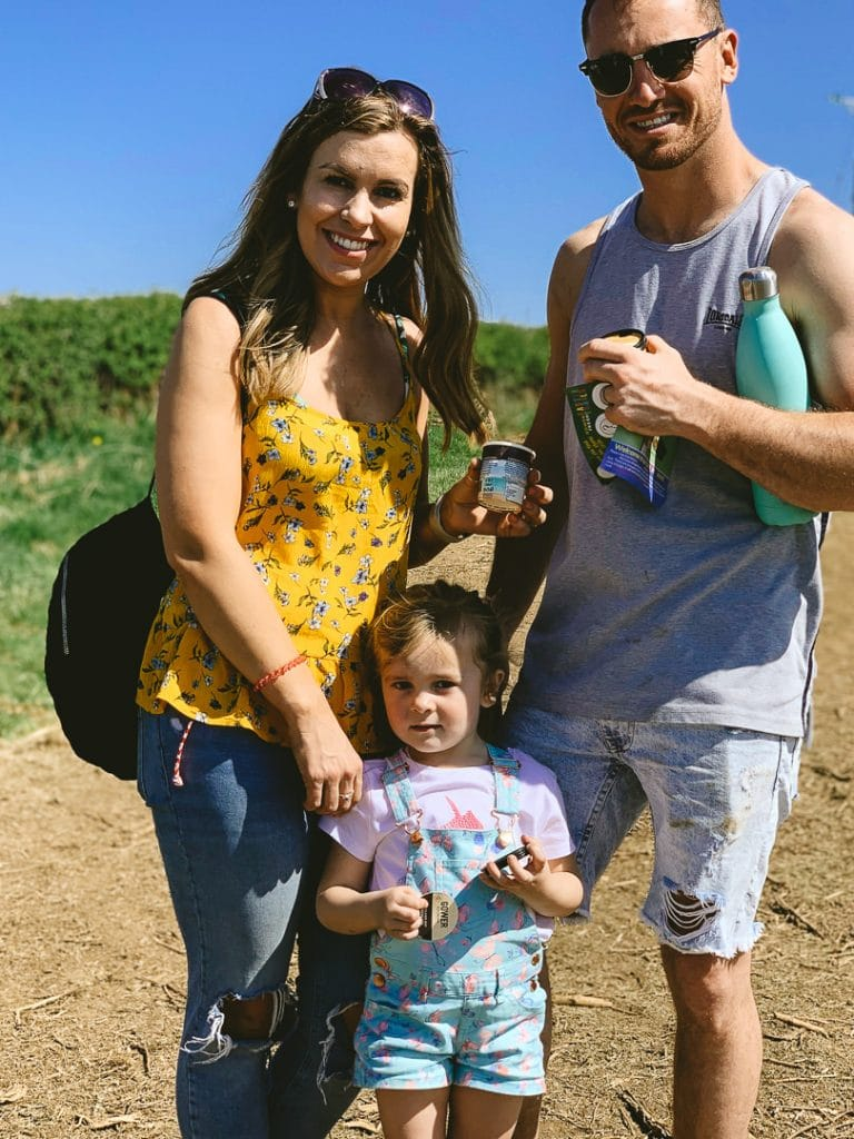 Happy family at Easter Trails Gower Fresh